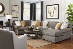 Ultimate Family Room Style. Morgan Sectional by #RoweFurniture...