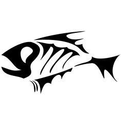 Fish Skeleton Logo | Cartoon Fish The Bowl... Fish Skeleton, Skeleton Art, Shark Tooth Tattoo, Tribal Animal Tattoos, Kayak Stickers, Sharpie Tattoos, Plasma Cutter Art, Cartoon Fish, Fish Logo