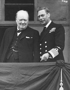 George Vi, Winston Churchill, Churchill Quotes, Princess Elizabeth, Queen Elizabeth Ii, Buckingham Palace, Royal King, British Prime Ministers, British Royal Families