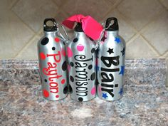 Personalized 20 oz Aluminum Sport Bottle. $9.00, via Etsy. Dance Party Birthday, Birthday Parties, Diy Stuff, Water Bottle, Sport, Drinks, Etsy, Birthday Celebrations, Deporte
