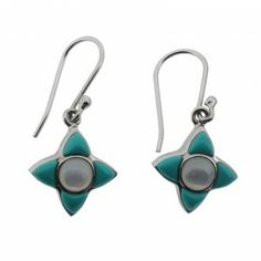 http://purpleleopardboutique.com/561-1241-thickbox/turquoise-mother-of-pearl-sterling-silver-earrings.jpg Turquoise and mother of pearl sterling silver earrings.