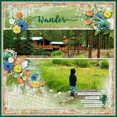 Not All Who WANDER Are Lost - 04July2012 - Miles loved exploring and wandering freely in the woods of Greer, Arizona.     Template: Blended #1 by Aimee H...