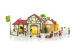 Horse Farm - 6926 - PLAYMOBIL® USA Navy Accent Walls, Riding Stables, Design Seeds, Diy Bathroom Decor, Horse Farms, Novelty Gifts, Toy Store, Wooden Boxes, Cute Kids