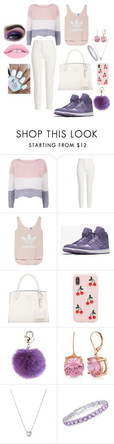 """""""lady in jumper"""" by theeunicorn ❤ liked on Polyvore featuring Joseph, adidas, NIKE, Sonix, Betsey Johnson, Links of London and Ross-Simons"""