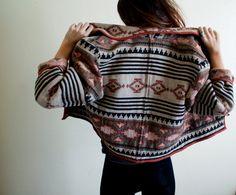 Tribal oversized jacket