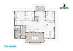 Kontio - Modèle de maison bois: Villa Sjödala A, B