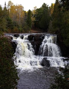 Minnesota waterfalls - Gooseberry Falls #minnesota #waterfall