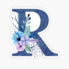 Calligraphy Letters Alphabet, Alphabet Art, Monogram Wallpaper, Love Wallpaper, Winter Bouquet, Winter Flowers, Floral Letters, Monogram Letters, Monogram Design