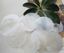100 PCS Naturel shell 50mm Perle rideau accessoires décoration de la maison Fenêtre pendentif lampe décoration de La salle de mariage disposition(China)