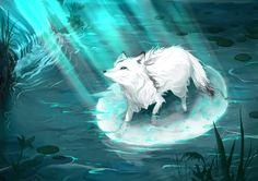 White fox Arctic fox art Fox fantasy Wolf spirit animal