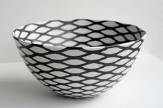 ane-katrine von bülow ceramics - mesh effect inside and out, very clever