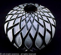 Eric Bright, Porcelain with black scrafitto design
