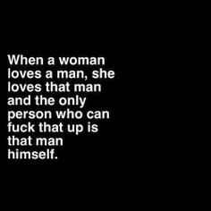 Woman loving a man