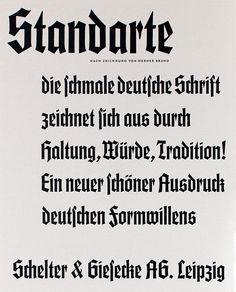 """library-of-type:  """"Standarte"""", 1934, Type Foundry: Schelter & Giesecke Leipzig"""