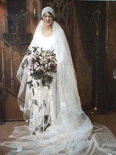 Bridal portrait, c. 1920.