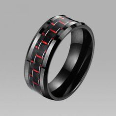 Carbon Fibre Ceramic Titanium Steel Men's Ring