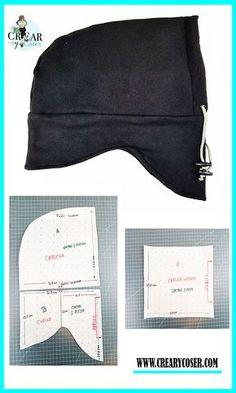 Sewing Patterns Free, Free Sewing, Fabric Patterns, Hooded Scarf Pattern, Hoodie Pattern, Pattern Making Books, Fleece Hats, Sewing Stitches, Balaclava