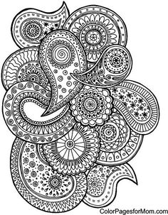 57 Abstract Doodle Zentangle Coloring Pages PAISLEY Colouring Adult Detailed Advanced Printable Find This Pin And More