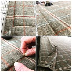On the worktables today a #selflined #wool #check #curtain - luxurious and warm…