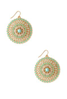Mod Medallion Drop Earrings | FOREVER21 - 1000062158