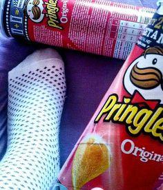 Pringles and nice socks