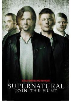 """Poster verticale """"Join The Hunt"""" della serie televisiva #Supernatural. Dimensioni: 61 x 91,5 cm."""