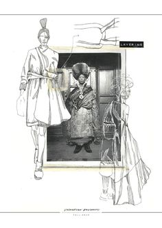 Re-constructing Heritage Fashion Sketchbook - fashion illustrations; Mode Portfolio Layout, Fashion Portfolio Layout, Fashion Design Sketchbook, Portfolio Ideas, Sketchbook Layout, Textiles Sketchbook, Sketchbook Inspiration, Illustration Mode, Fashion Illustration Sketches