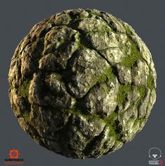 Working on mossy Stones with a substance designer Texture Drawing, 3d Texture, Game Textures, Textures Patterns, Zbrush, Island Moos, Sub D, 3d Tutorial, Unreal Engine