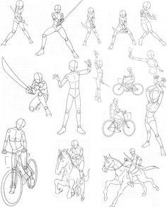 Reference- Manga Bodies 9 by FVSJ on DeviantArt