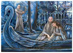 Трандуил с женой в Лориэне      Thranduil in Lothlorien by jankolas on DeviantArt