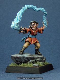 Reaper Miniatures - Corim the Kestrel, Gnome Sorcerer. Sculpted & Painted by  Derek Schubert