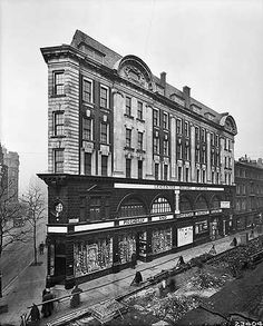 Entrance to Leicester Square Underground Station, Cranbourn Street, 15 February… London Pictures, London Photos, Old Pictures, Old Photos, Vintage Photos, Victorian London, Vintage London, Old London, London History