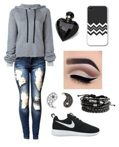 """School clothes"" by crimson-styler333 on Polyvore featuring Unravel, NIKE, Sydney Evan and Lipsy"