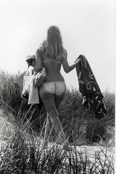 Elliott Erwitt, 1968 | frolic | naked | summer | tan lines | nude | nature |