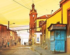 lukas  - Buscar con Google Iglesia San Francisco, South America, Watercolor, Country, World, Building, Painting, Travel, Cactus