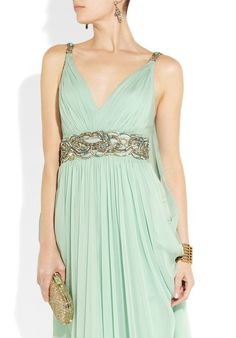 Marchesa - love the color and the simple but elegant Grecian design.