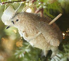 Bottlebrush Penguin Ornament #potterybarn Darling!