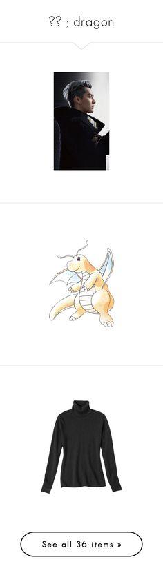 """""""亦凡 ; dragon"""" by kazuichii ❤ liked on Polyvore featuring pokemon, tops, sweaters, black, women's clothing, short-sleeve turtleneck sweaters, turtle neck sweater, long sleeve tops, long tops and long sleeve turtleneck"""