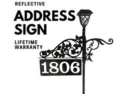 Double Sided Reflective Address Signs Art for by NiteBriteSigns Address Numbers, Address Signs, Mailbox Makeover, Flag Holder, Home Landscaping, Solar Lights, Gifts For Husband, Boyfriend Gifts, Finding Yourself