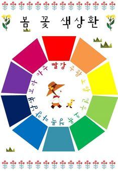 [봄과 동식물]교구제작,다운로드▶ 봄꽃 색상환 수조작 교구 만들기 : 네이버 블로그 Korean Language Learning, Science For Kids, Art Education, Diy And Crafts, Diagram, Classroom, Flowers, Blog, Learn Korean
