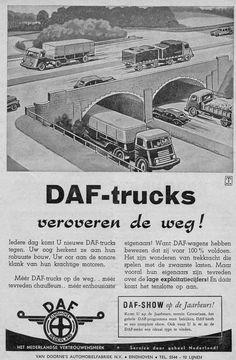 daf-1951-04-doorne Eindhoven, Old Trucks, Volvo, Vintage Posters, Vintage Cars, Vintage Antiques, Transportation, Automobile, The Past