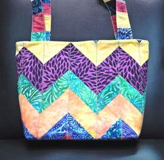 The bag I designed and made for my hairdresser for Christmas! She wanted rainbow colors!