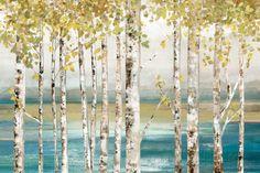 Unten am Fluss Kunstdruck
