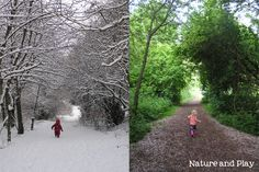 A new accidental tradition - a picture in the same location each season - so far Winter and Spring