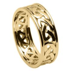 Pierced Celtic Knot Ring With Trims