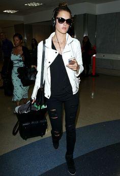 Alessandra Ambrosio LAX airport May 29 2014