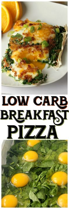 Meal prep made easy - this Simple Low Carb Breakfast Pizza  only has five ingredients and tastes AMAZING! #keto