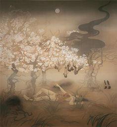 a billion tastes and tunes: Fuyuko Matsui Japan Illustration, Japanese Art Styles, Japanese Artists, Art Chinois, Ghost Images, Art Japonais, Thing 1, Artwork Images, Japanese Painting