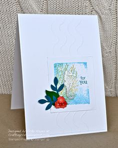 Stampin Up ideas and supplies from Vicky at Crafting Clares Paper Moments: A ride under the sea