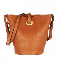 Valentino Textured-Leather Bucket Bag